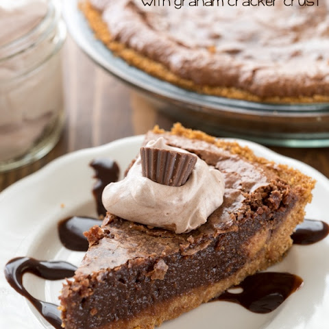Chocolate Chess Pie with Graham Cracker Crust