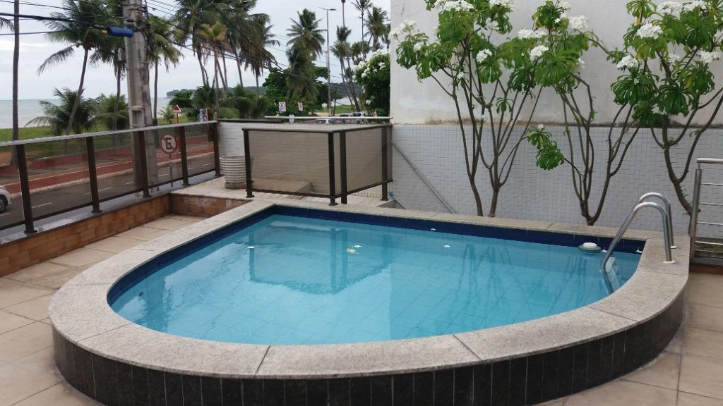 Apartamento Beira Mar com 2 dormitórios à venda, 58 m² por R$ 400.000 - Cabo Branco - João Pessoa/PB