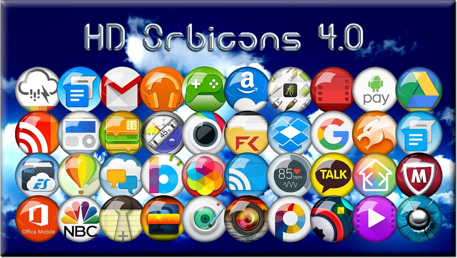 Icon Pack HD Orbicons Screenshot 1