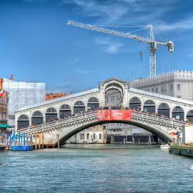 Rialto Bridge, Venice by Cristian Peša - City,  Street & Park  Historic Districts ( rialto, grand canal, rialto bridge, venice, sea, bridge )
