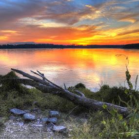 by Joe Machuta - Landscapes Sunsets & Sunrises ( memphis, mississippi river )