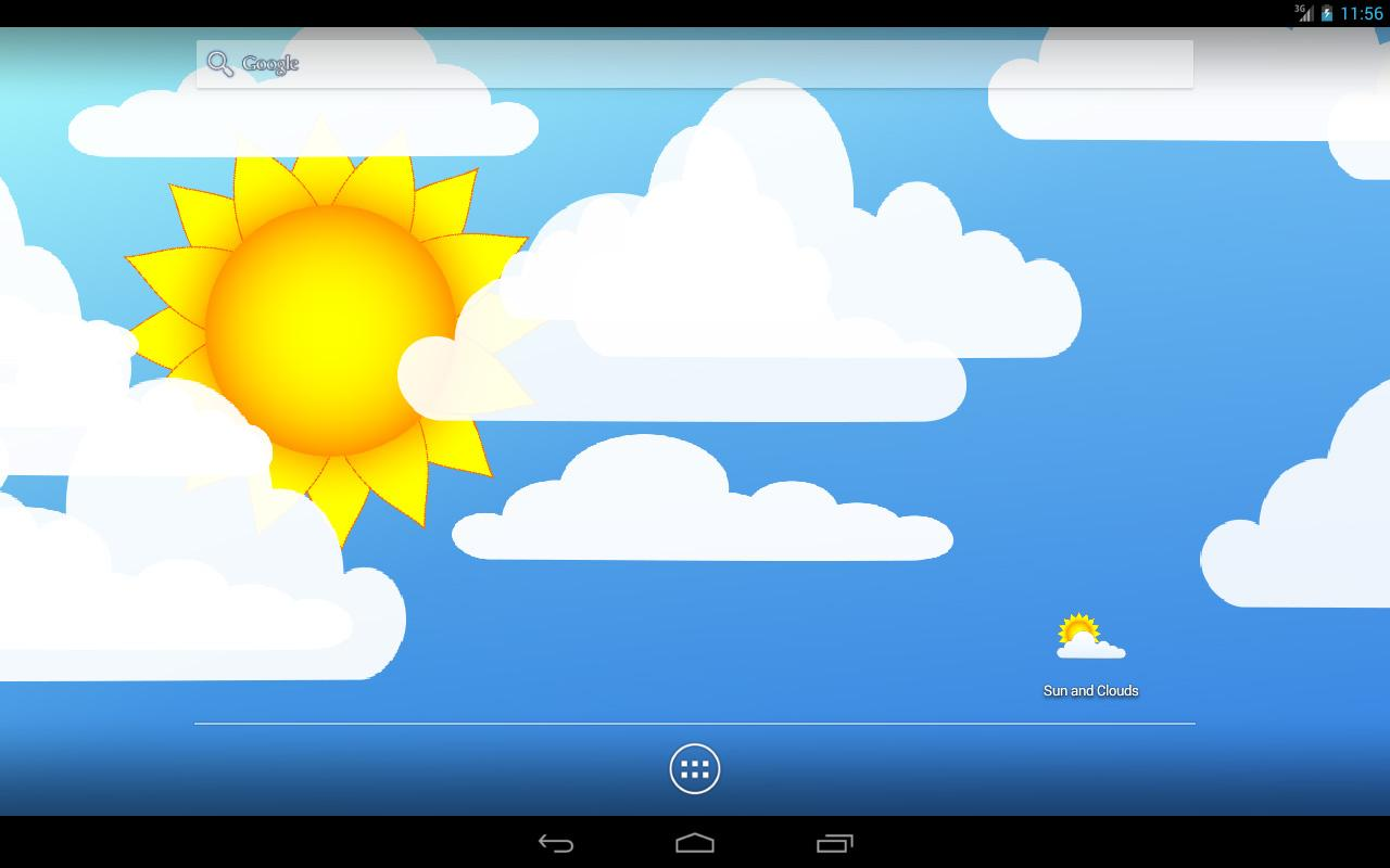 Sun and Clouds Free LWP Screenshot 5