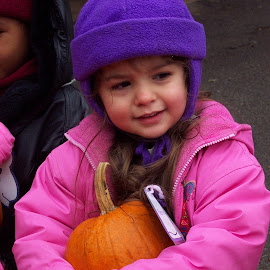 CVMB Picked a Pumpkin by Rita Goebert - Babies & Children Children Candids ( child; bundled up; grandchild; pumpkin; class trip; pre-school )