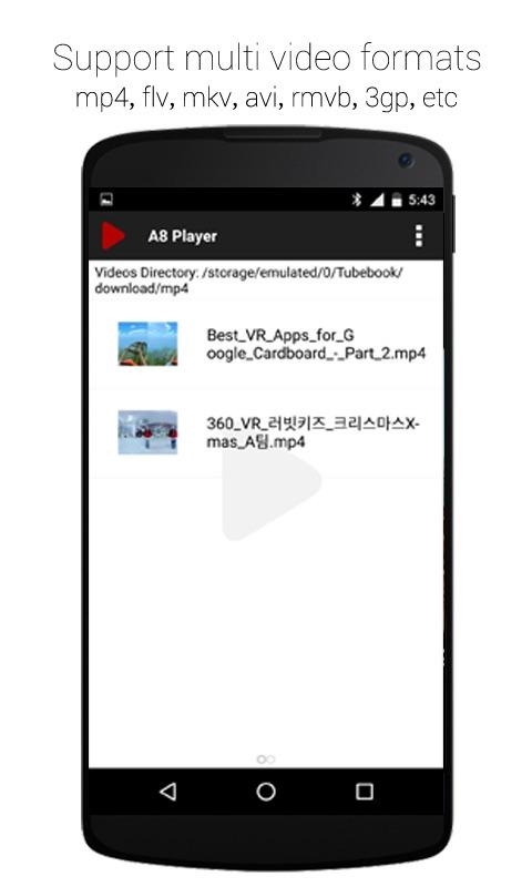 A8 Video Player Pro Screenshot 1