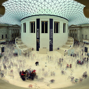 British Museum by Raymon Brugman - Buildings & Architecture Other Interior ( british museum architecture curves panorama wide angle )