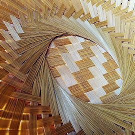 Patterns in straw by Pradeep Kumar - Artistic Objects Other Objects