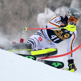Dominik Stehle in action by Igor Martinšek - Sports & Fitness Snow Sports ( pokal vitranc, fis ski world cup, slalom, slovenia, kranjska gora )