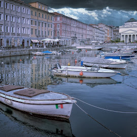 by Milan Jovanovic - City,  Street & Park  Historic Districts ( trieste, italy )