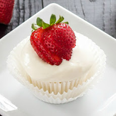 Strawberry Filled Angel Food Cupcakes
