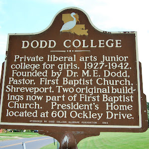 Private liberal arts junior college for girls, 1927-1942. Founded by Dr. M.E. Dodd, Pastor, First Baptist Church, Shreveport. Two original buildings now part of First Baptist Church. President's Home ...