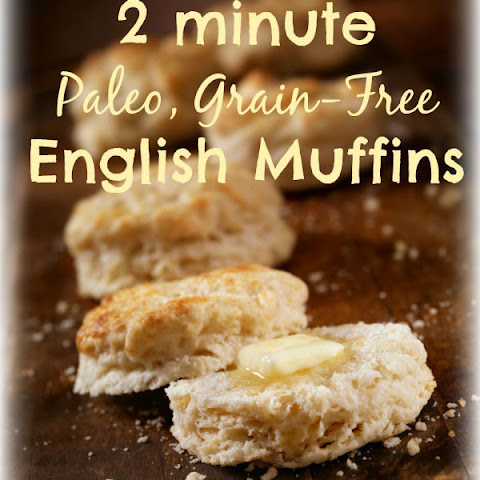 2 minute Paleo, Gluten-Free English Muffins