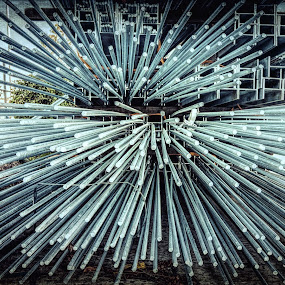 Rods by Carole Pallier  - Artistic Objects Industrial Objects ( stockpile, industrial, metal, warehouse, rods, steel )