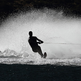 summer fun by Geoff Soper - Sports & Fitness Watersports ( water, water sports, black and white, water skiing, high contrast )