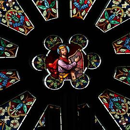 Rose Window, London, Ontario, Canada by Carl VanderWouden - Artistic Objects Glass