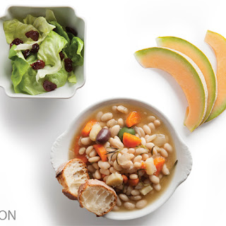 Bean Cassoulet with Veggies & Butter Lettuce Salad