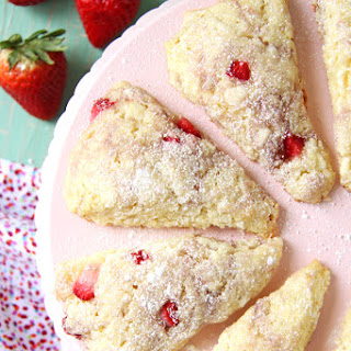 Strawberry and White Chocolate Scones