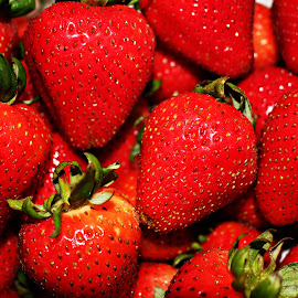 The Red Delicacy by Arifah Mardiningrum - Food & Drink Fruits & Vegetables ( fruit, red, fresh, strawberries, summer, natural )