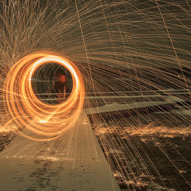 Fire vs Ice by Kennet Brandt - Abstract Light Painting