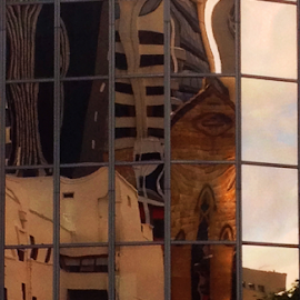 City Reflections - Brisbane by Peter Keast - Instagram & Mobile iPhone ( iphoneography, reflections, cityscape, iphone )