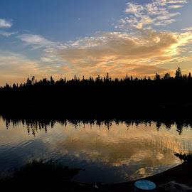 Golden Hour Reflections  by Debbie Squier-Bernst - Landscapes Cloud Formations