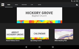 Screenshot of Hickory Grove Baptist Church