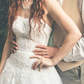 Hands by Jenny Hammer - Wedding Bride & Groom ( bride, groom, pretty, beauty, wedding )