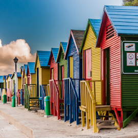 Beachcabines St James - South Africa by Wim Moons - Buildings & Architecture Other Exteriors ( saint james, zuid-afrika, muizenberg, zaf )