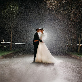 Magical night shot in Woodlands Adare  by Kaspars Sarovarcenko - Wedding Bride & Groom ( wedding photography, wedding photographer limerick )