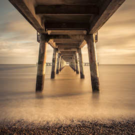Under Deal Pier by Dan Horton-Szar ARPS - Buildings & Architecture Bridges & Suspended Structures ( deal, long-exposure, kent, pier, beach, seaside )
