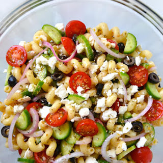 Greek Pasta Salad with Red Wine Vinaigrette