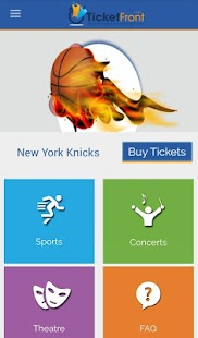 New York Knicks Tickets - screenshot