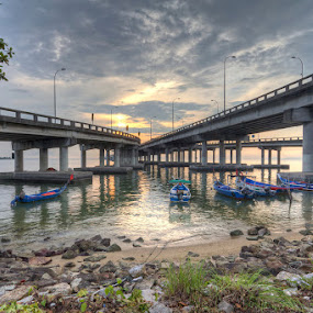 Beneath Penang Bridge by Danny Tan - Buildings & Architecture Bridges & Suspended Structures