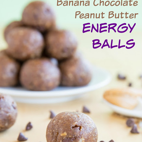 Funky Monkey Banana Chocolate Peanut Butter Energy Balls