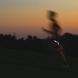 Runner in sunset  by Marie-ange Chevalier - Sports & Fitness Running