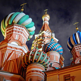 St. Basil Cathedral, Moscow, Russia by Andie Andros - Buildings & Architecture Other Exteriors ( russia, the viewing deck, church, moscow )
