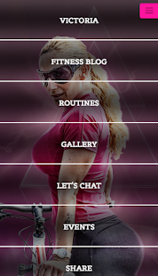 Victoria Lomba Fitness app screenshot for Android
