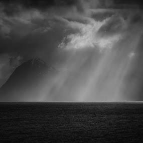 Seen the Light by Janne Monsen - Black & White Landscapes ( atlanterhavsveien, landscapes, bud, light, norway )