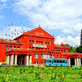 Sheshadri Iyer Memorial Hall by Brijesh Shivashankar - Buildings & Architecture Public & Historical ( mysore state, cubbon park, european style, central library, rose garden )
