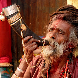 DEVOTEE by Ajit Kumar Majhi - People Portraits of Men (  )