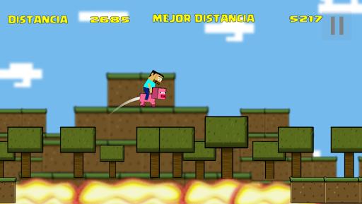 POUCRAFT Infinite Jump - screenshot