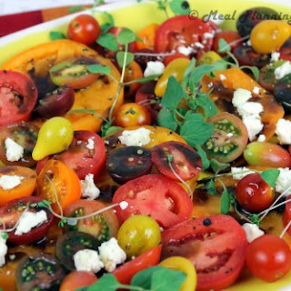 Heirloom Tomatoes ?n Goat Cheese with Balsamic Drizzle