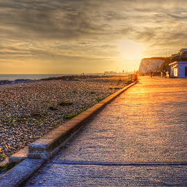 A walk a long the seafront  by Mark West - Landscapes Sunsets & Sunrises
