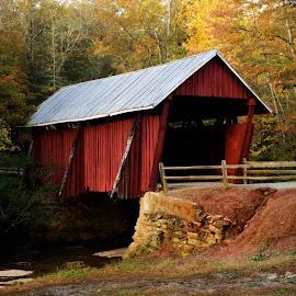 Campbell's covered bridge by Steven Faucette - Buildings & Architecture Bridges & Suspended Structures