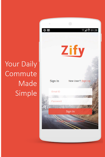 Zify - Smart Ride Sharing App Screenshot