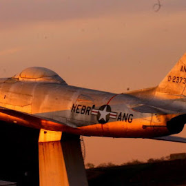 Into the Sunset by Bonnie Burgeson - Transportation Airplanes