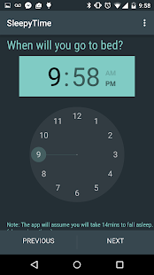 SleepyTime: Bedtime Calculator Screenshot