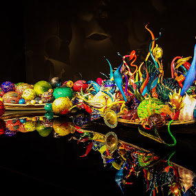 Chihuly Glass Museum  by Zach Boudreaux - Artistic Objects Glass ( reflection, colorful, glass, museum )