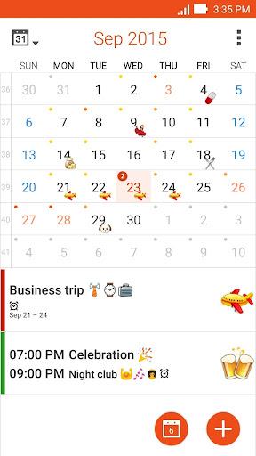 ASUS Calendar screenshot 1