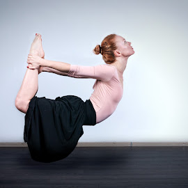 flying lady by Darko Kovac - People Portraits of Women ( flying, levitation, woman, lady, yoga )