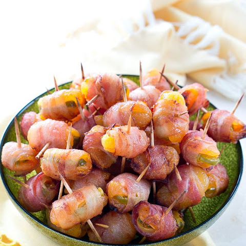 Bacon Wrapped Apricots with Jalapenos